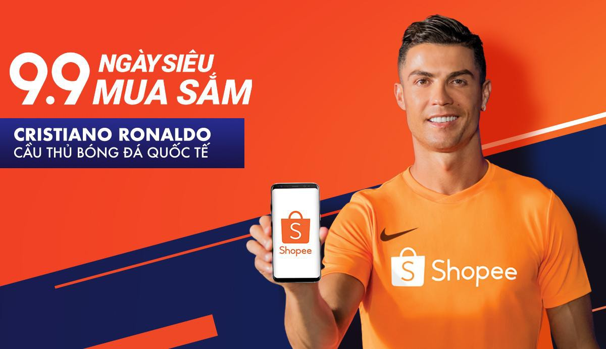 Huyền thoại bóng đá thế giới Cristiano Ronaldo trở thành Đại sứ thương hiệu của Shopee